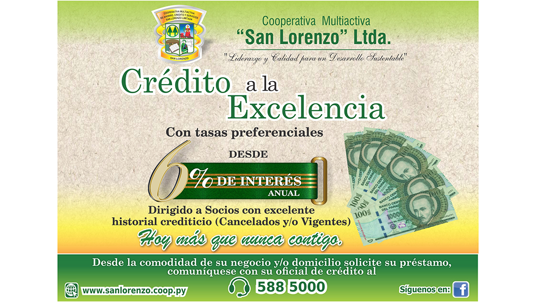 Flyer de crédito a la excelencia